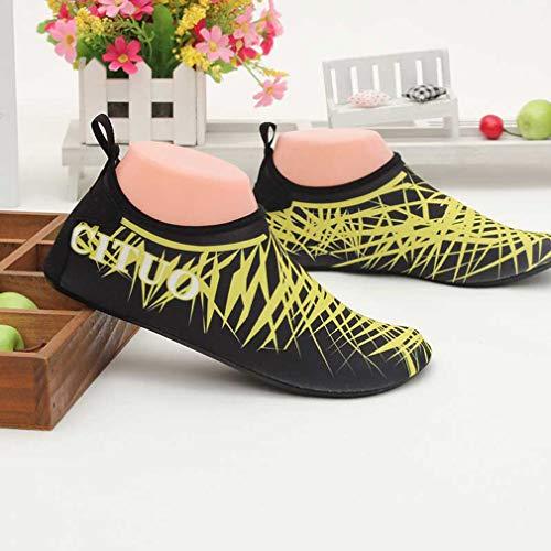 A Sport Calzini Uomo Donna Unisex Leggero Scarpe Quick Acquatici Dry Acqua Piedi Zhongke Nudi Piscina Aqua Giallo wEqU8SF