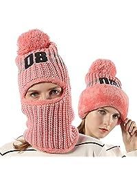 04b53d20333 FLY HAWK Women Girls Knit Beanie Mask Balaclava Hat Winter Warm Outdoor Ski  Cycling Cap