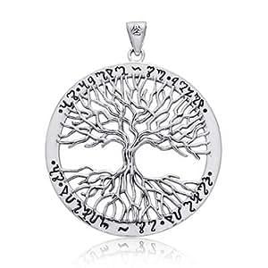 Bling Jewelry Wiccan crece realmente Árbol de la Vida, Colgante Plata Esterlina 925