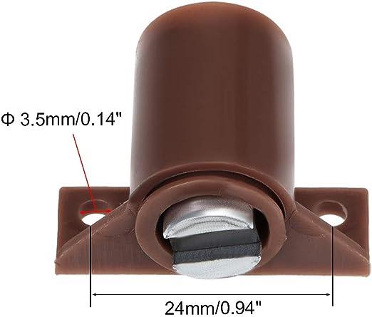 Sourcingmap 2 unidades, cierre magn/ético color blanco Armario magn/ético para puertas y armarios