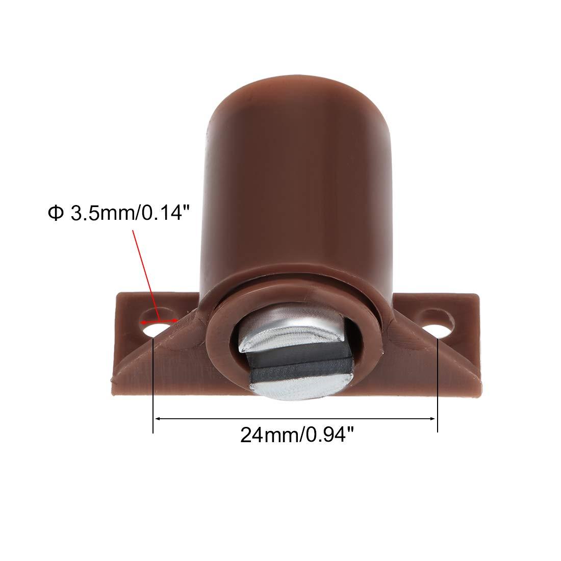 color marr/ón 4 unidades Sourcingmap Gabinete magn/ético para puertas y armarios