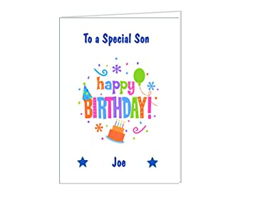 Eternal Design Personalised Birthday Card With Free Chocolate Bar