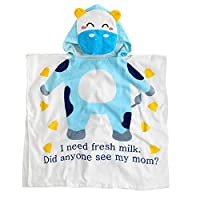 Cute Baby Hooded Towel,STAR-TOP 100% Organic Cotton,Soft,Children's Cartoon Bathrobe for Baby Gifts