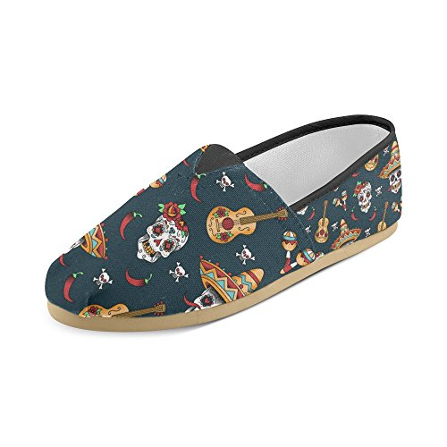 On Womens Slip Story Dancing Classic Fashion Loafers Skeletons Shoes D Multi3 Sneakers Flats Canvas YwzqHq