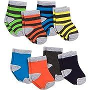 Gerber Baby 8 Pack Snug-fit Crew Sock, Stripes/Solids, 0-6 Months