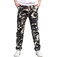 CNMUDONSI Big and Teenager Boys Pants Cotton Long Casual Camouflage Spring Autumn Clothing