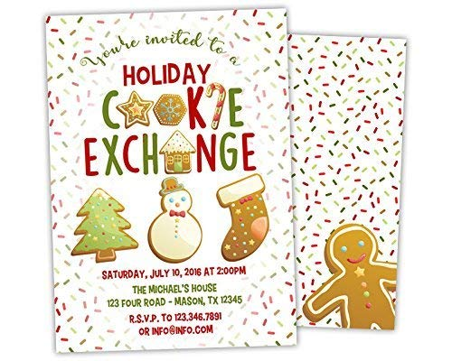 - Holiday Cookie Exchange Invitations - Gingerbread Cookie Party Invitation