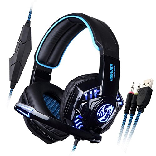 Iusun Noswer Professional Gaming Earphone Led Light Headset With Mic