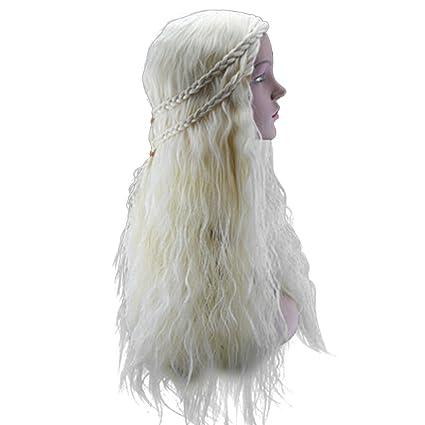 frcolor princesa disfraz de Halloween Navidad cosplay peluca ...