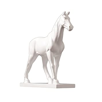 . Amazon com  Statues Modern White Horse Sculpture TV Cabinet Living