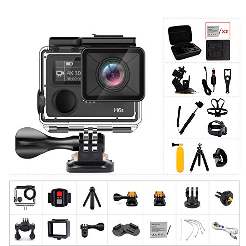 SONGYANG Ultra HD Sport Action Camera with Ambarella A12 chip 4k/30fps 1080p/60fps EIS 30M Waterproof 170 Degree Wide View Sport Camera with 2.4G Remote Control,A+32Gmemorycard
