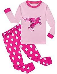Girls Pajamas Princess 100% Cotton Toddler PJS Kids Shirts Children Sleepwear Clothes