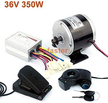 L-faster 24 V 36 V 350 W DC Eléctrico Motor de Monopatín Eléctrico DIY 350 W Motor Kit Motor eléctrico de la Bici Motor Uso 25 H Cadenas (36V350W Pedal Kit): Amazon.es: