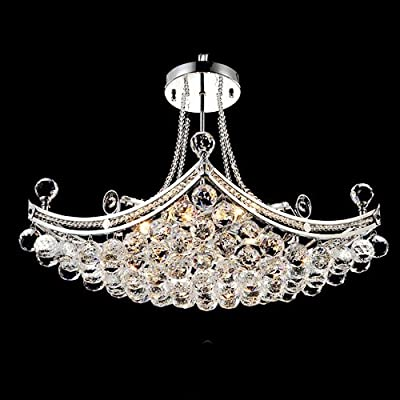 LightInTheBox Modern Luxury Delicate 6 Light Pendant With Crystal Balls, Modern Home Ceiling Light Fixture Flush Mount, Pendant Light Chandeliers Lighting, Voltage=110-120V