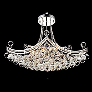 LightInTheBox Modern Luxury Delicate 6 Light Pendant With Crystal ...