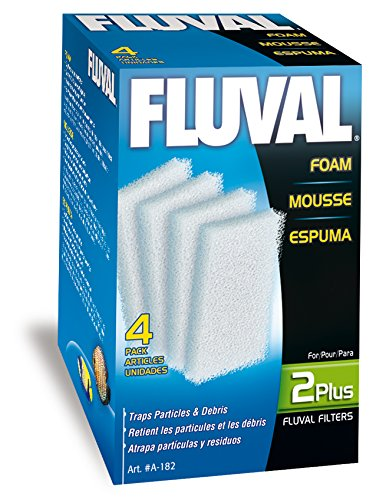 Fluval 2 Plus Foam Insert, 4-Pack - Fluval Plus Internal Filter