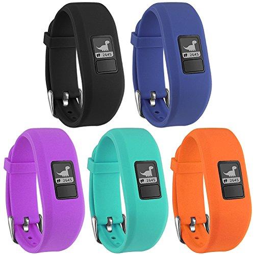 Mosstek Bands Compatible Garmin Vivofit 3 / Jr/Jr 2 Kids Women Men, Silicone Fitness Accessories Replacement Band Compatible Garmin Vivofit 3 Jr/Jr 2 (No Tracker) by Mosstek