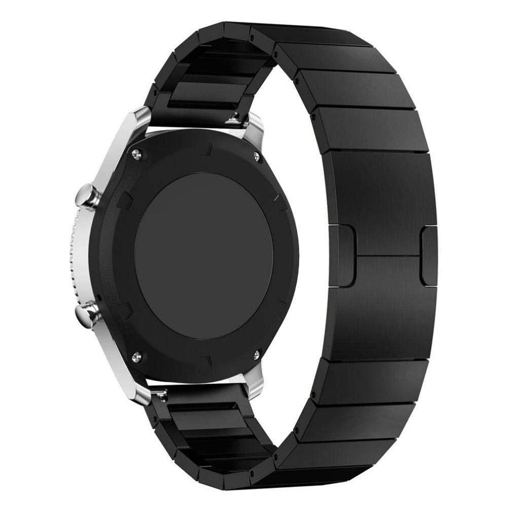 Fashion Clearance! Noopvan Gear S3 Classic Strap,Stainless Steel Metal Replacement Clasp Wrist Band for Samsung Gear S3 Classic (Black)
