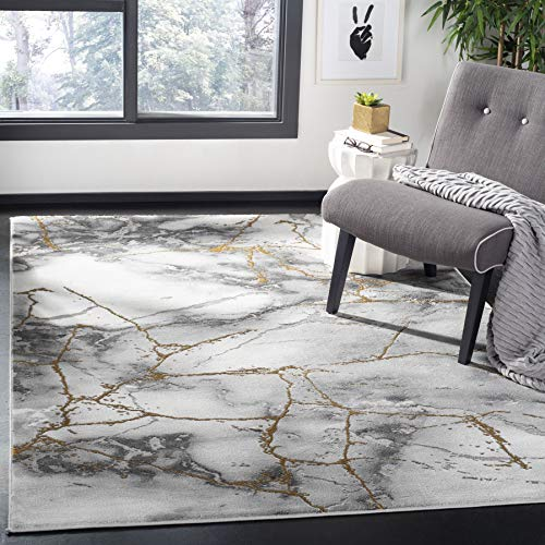 Safavieh Craft Collection CFT877F Modern Abstract Non-Shedding Stain Resistant Living Room Bedroom Area Rug, 8′ x 10…