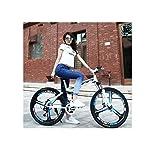 Mountain-Bike-Mountain-Bike-da-Uomo-Cerchi-in-a-3-Razze-da-24Con-Telaio-in-Acciaio-ad-Alto-Tenore-Di-Carbonio-Bici-Pieghevole-a-Doppia-Sospensione-da-212427-Velocit-Unisex-con-Freni-a-Disco