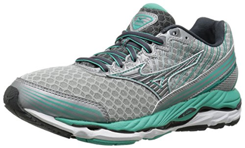 Mizuno Women s Wave Paradox 2 Running Shoe, Silver Dark Shadow, 6 B US