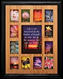 12x16 ~ K-12 School Days/Years Photo Picture Collage Frame ~ Grade School to Graduate BLACK Solid Oak Picture Frame