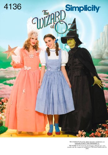 Dorothy Wizard Of Oz Costume Pattern (Simplicity Sewing Pattern 4136 Misses Costumes, R5 (14-16-18-20-22))