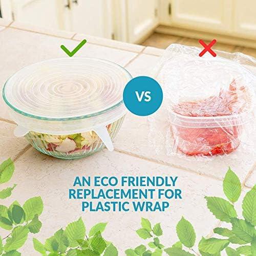 qingtang37 Food-Grade Silicone Six-Piece Fresh-Keeping Lid Stretch 6-Piece Universal Bowl Lid Sealed Plastic Wrap