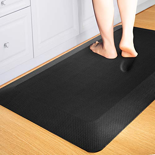 Comfort Anti Fatigue Mat,9/10 inch,Extra Support and Thick,Perfect for Kitchens,Standing Desks and Garages,Phthalate Free,Relieves Foot,Knee,and Back Pain…