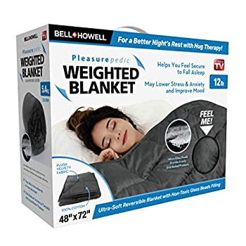 Image of Bell+Howell Weighted Blanket 72 x 48 Queen-Sized Version, Ultra Soft and Plush to The Touch with Non-Toxic Glass Beads 12 pounds (Grey) Bell%2BHowell B07QC44TL9 Weighted Blankets