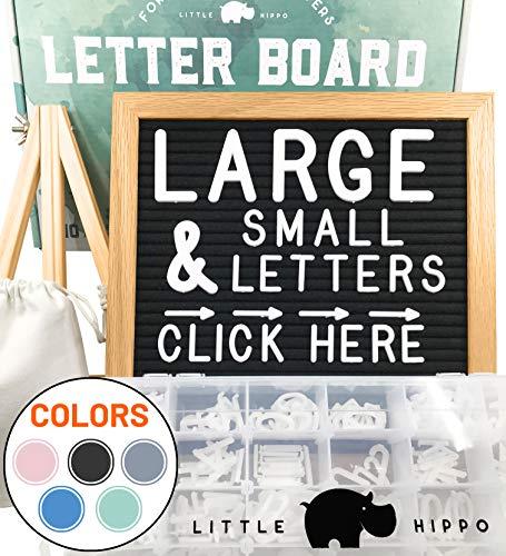 Felt Letter Board 10x10 | +690 PRE-Cut Letters +Stand +Sorting Tray | (Black) Letter Board with Letters, Letters Board, Letter Boards, letterboard, Word Board, Message Board, Letter Sign, Changeable