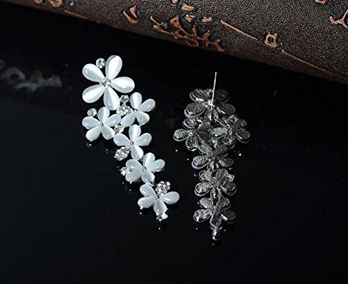 findout plaqué or blanc cristal zircon cubique opale elegent marguerite boucles d'oreilles (f1712)