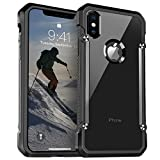 Ztotop iPhone X Case, [Full Protection] Shockproof Bumper Hard Case with QNMP Compatible for Apple iPhone 10 / iPhone X 2017 Release,Black