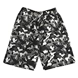NUWFOR Men's Summer Fashion Shorts 100% Cotton Casual Printed Beach Shorts Pants