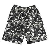 NUWFOR Men's Summer Fashion Shorts 100% Cotton Casual Printed Beach Shorts Pants