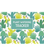 Plant Watering Tracker: Succulent Log Book to Keep Track and Schedule Watering Times for House Plants, 8.25 x 6