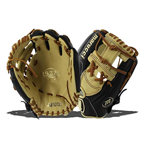 Marucci MFGRS11I-BK/MS-LH RS225 Series Baseball Fielding Gloves, Black/Mesa, 11