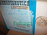 Dmitri Shostakovich: From Manuscripts of Different Years ~ Scherzo, Op. 1 - Theme and Variations Op. 3 - Scherzo, Op. 7 - ''All Alone'', Op. 26 - 6 Romances, Op. 21 ~ (First Recording) ~ USSR Ministry of Culture Symphony Orch. Cond., G. Rozhdestvensky