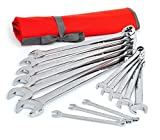 Crescent CCWS4 SAE Combination Wrench Set with Roll Pouch, 14 Piece