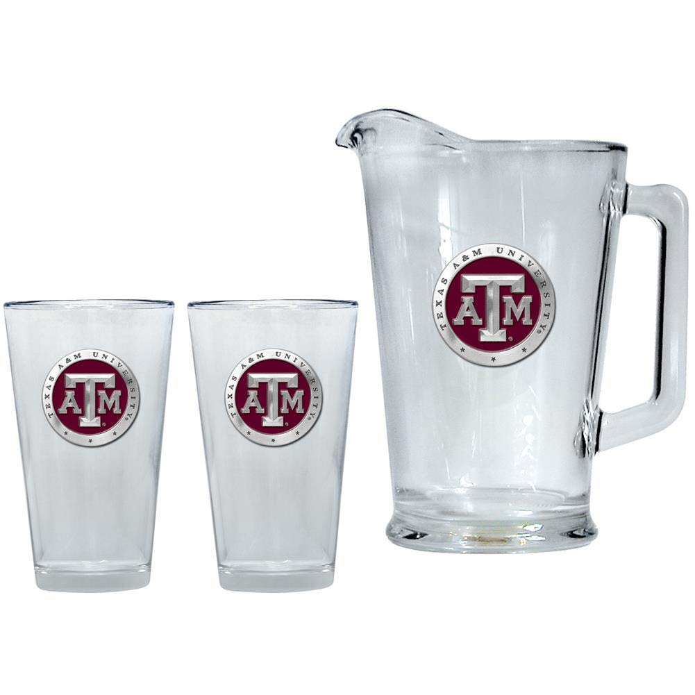 Heritage Metalwork Texas A&M Aggies Pitcher and 2 Pint Glass Set Beer Set