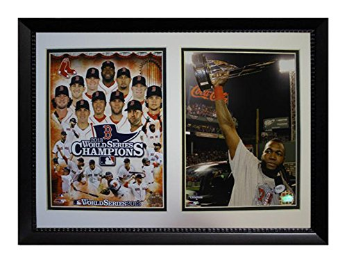 Encore Select 120-77 MLB Boston Red Sox Double Frame David Ortiz MVP 2013 World Series Champions Print, 12-Inch by 18-Inch