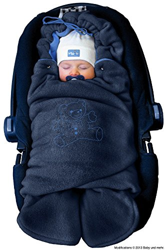 Bunting Wrap (ByBoom - Baby Swaddling Wrap, Car Seat and Pram Blanket for Winter; THE ORIGINAL WITH THE BEAR)