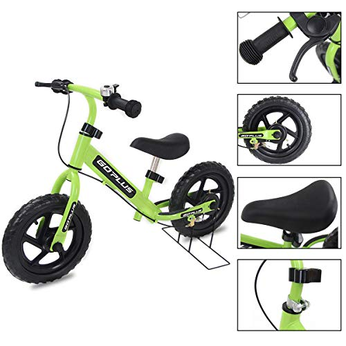 lors Kids Balance Bike Scooter with Brakes and Bell, Green ()