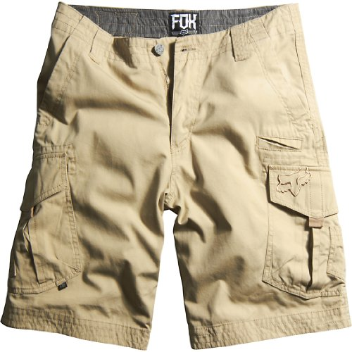 Fox Men's Slambozo Cargo Solid Short, Dark Khaki, - Shorts Racing Mens
