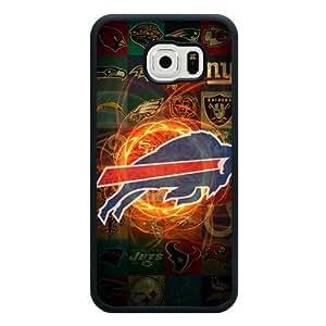 Samsung Galaxy S6 Case, Customized NFL Buffalo Bills Logo Black Soft Rubber TPU Samsung Galaxy S6 Case, Buffalo Bills Logo Galaxy S6 Case(Not Fit for Galaxy S6 Edge)