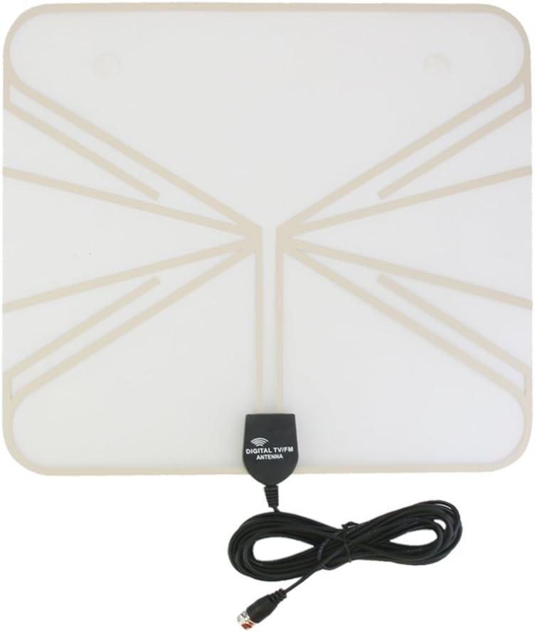 Indoor Thin Flat HDTV TV Antenna VHF UHF FM 35m Range 1080P