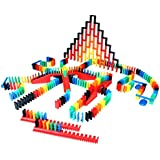 Bulk Dominoes 410pcs Pro-Scale, Premium Stacking & Toppling Domino kit. Chain Reaction Steam Building Toy Set