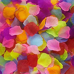 1000 Pieces Silk Rose Petals Colorful Wedding Party Flower Petals 50