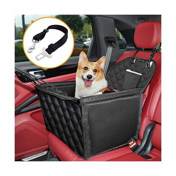 51L6Di5LOKL KYG Hunde Autositz für Kleine Hunde Wasserdichter Hundeautositz für Rück- und Vordersitz mit Verstärkte Wände und 4…