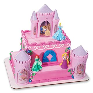 "Decopac Disney Princess Happily Ever After Signature DecoSet Cake Topper, 4.8"" L x 2.5"" W x 6"" H, Pink"